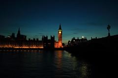 Thames by Night (DonCarlosRutter29) Tags: bridge light england london tower clock thames river low capital parliament bigben landmark