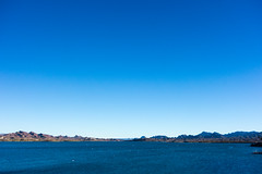 It's a Sky Blue Sky. (nosha) Tags: blue arizona lake water beautiful beauty river landscape coast az shore lakehavasu nosha