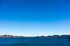 It's a Sky Blue Sky. (nosha) Tags: blue arizona lake water beautiful beauty river landscape coast az shore lakehavasu nosha