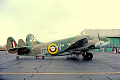 """N30N / QA-V. Built in November 1942 for USAAF as C-60A 42-55884. Civilianised in 1945. Acquired by the CAF in September 1971 and painted as an RAF """"Hudson"""" wearing the """"QA"""" codes of 224 Squadron. (Gerrit59) Tags: lockheed 1850 lodestar"""
