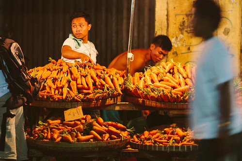 Carrot Vendor, Night Market, Philippines