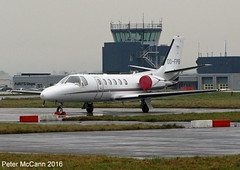 OO-FPB C550 Glasgow January 2016 (pmccann54) Tags: cessna550 oofpb