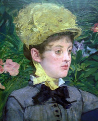 Manet, In the Conservatory (detail), 1878-79