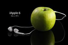 iApple (Ramy Alaa) Tags: white black reflection green apple nikon lowkey greenapple iphone d300 ipad iapple speakerphones