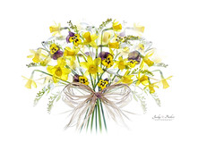 Spring Bouquet (Jacky Parker Floral Art) Tags: flowers flower art yellow spring nopeople indoors whitebackground snowdrops highkey bouquet viola arrangement daffodils freshness narcissus naturephotography macrophotography galanthusnivalis 2016 floralart beautyinnature horizontalformat flowerphotography lightpad floralfriday creativeedit