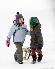 Winter (Natali Antonovich) Tags: christmas winter friends portrait snow frost belgium belgique belgie tradition sled sleding sledging lahulpe christmasholidays