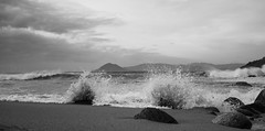 Playa (ropampic) Tags: bw storm beach waves playa