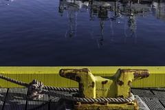 Soleil sur le port de Stykkisholmur (sun on Stykkisholmur harbour) (Larch) Tags: port harbour soleil sun sunny jaune yellow amarre corde rope bateau boat islande iceland ocean mer sea stykkisholmur mooringrope bateaudepêche fishingboat snaefellsnes l couleur color inexplore