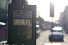 Hold Up There, Fella... (SimonTHGolfer) Tags: street england 50mm toucan suffolk nikon waiting crossing traffic bokeh pelican signals lensflare zebra wait ipswich d5100 simontalbothurnphotography