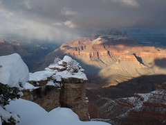 Winter Canyon (zoniedude1) Tags: winter light sunset shadow arizona snow cold southwest nature outdoors afternoon view snowy grandcanyon rocky canyon adventure explore edge vista rim overlook exploration discovery precipice southrim stormclouds winterstorm ontheedge grandcanyonnationalpark stormyskies matherpoint thebighole gcnp outinthewild wintercanyon zoniedude1 earthnaturelife canonpowershotg12 southrimwinter2016 winterontheedge