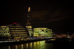 Shard at Night (iamfisheye) Tags: camera light water thames night dark olympus southbank kit f18 shard em1 17mm