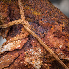 Tied and Dyed (Duncan Herring) Tags: scotland interestingness interesting dock rust harbour rope string weathered ladder westernisles dyed outerhebrides isleofharris southharris ef24105mmf4lusm canon5dmarkiii duncanherring kylesstockinish