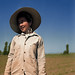 Portrait of a Japanese American field worker, Ontario, Oregon (Malheur County), in May 1942.