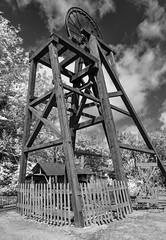 When We Had Pits. (Cycling Saint) Tags: monochrome westmidlands livinghistory blackcountrymuseum ww2reenactment 1940sreenactmentevent nikond6002470f28