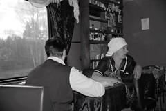 On the Transsiberian (Frhtau) Tags: morning people woman man kitchen up car train relax tren coach break leute personal russia eisenbahn railway indoor fresh stuff shake worker dinning vladivostok treno transsiberian conductor mirrow personen ferrocarril speisewagen russland moskow sibirien einfarbig eisenbahnen              eisenbahn