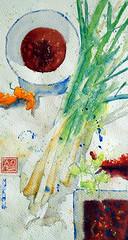 Citronnelle (andremehu) Tags: stilllife watercolor asian cuisine stillleben ak watercolour acuarela oriental cookery asiatique acquarello akwarela