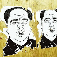 Chairman Trump (swanksalot) Tags: streetart pasteup graffiti hannah otto mao trump hipstamatic