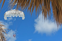 FLY BY (ddt_uul) Tags: blue clouds fly bluesky cabana parasail flyby