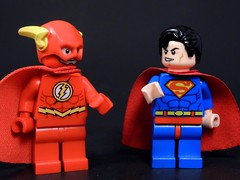 Dude, Capes are Cool (MrKjito) Tags: speed scarlet comics dc cool comic force lego flash super hero cape minifig speedster the
