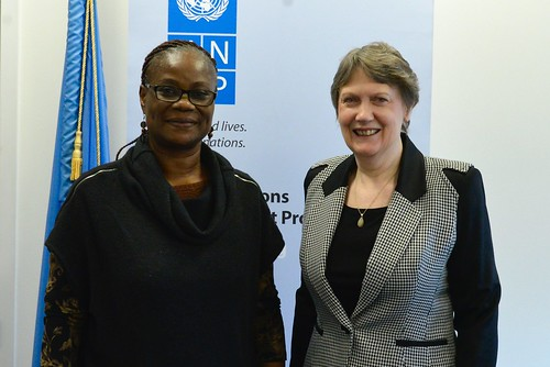 Helen Clark meets with Madame Rosine Coulibaly-Sory
