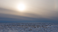 An open space leaves a trace (OR_U) Tags: winter sunset sky sun snow ice clouds fence landscape iceland widescreen surreal minimal petshopboys oru minimalism 169 2016 hff