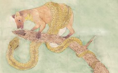 Damocles (Elijah Claxton) Tags: art pine illustration sword marten adder the damocles of