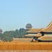 La colline de charbon vue depuis la Cité interdite (Beijing, Chine)
