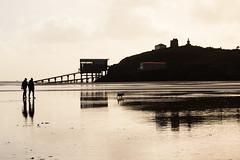 Winter on Tenby Beach (*Hairbear) Tags: winter beach wet wales tide ramps lifeboat pembrokeshire tenby
