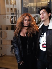 Jillian Hervey and Lucas Goodman, AKA Lion Babe, outside BBC Radio 1 (oldrockerward) Tags: boy woman man sexy male london girl beautiful leather musicians female hair stars cool pretty duo famous young handsome pop lucas american bbc singer hervey jillian radio1 popstars beautifulgirl blackleather mickjagger goodman neosoul schn upandcoming pikny seksowny astroraw lionbabe jillianhervey lucasgoodman