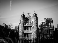 The Old Royal Infirmary (Cherry Becwell) Tags: old city blackandwhite white black building monochrome skyline architecture modern buildings hospital outside scotland edinburgh apartments moody outdoor meadows royal infirmary