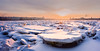 Icy river (Oleg Kolobov) Tags: city winter sunset snow ice st river russia petersburg oleg neva hummocks kolobov