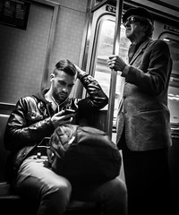 NYC Subway (Henka69) Tags: street nyc people bw newyork monochrome subway publictransit publictransportation metro candid streetphoto commuters