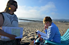Democracy on the Beach (Pedestrian Photographer) Tags: ocean california trip west beach sign cali coast march mar chair pacific anniversary signature n thoughtful nb socal cal local february feb nm petition vote signing ventura voting ribbet consideration 2016 nicholle tapout nmb dsc9316b