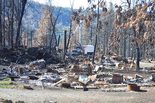 Corps deployment during cleanup efforts of 2015 California Wildfires