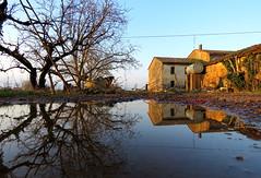 IMG_0030y (gzammarchi) Tags: casa italia natura campagna scala albero paesaggio sanmarco ravenna riflesso pianura cascina pozzanghera