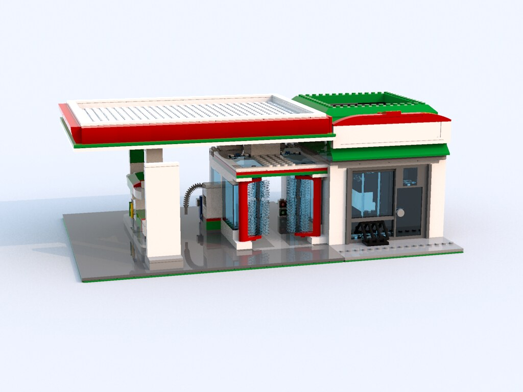 lego octan gas station instructions