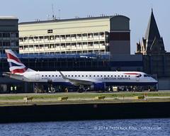 British Airways ERJ190 ~ G-LCYT ( Freddie) Tags: london londoncityairport newham e16 lcy royaldocks eglc runway27