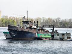 Too slow speed -    (dashkiyeff.victor) Tags: abandoned river iron vessel ukraine vandal rusted tug kiev kyiv ussr dnieper
