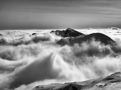 Vercors en hiver... (Jacques Rochet) Tags: alpes noir altitude hiver au neige nuages vercors et blanc montagnes sommet dessus mtorologie