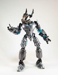 Toa Niretta - Powers (0nuku) Tags: silver lego da deviant oc deviantart bionicle toa kakama selfmoc niretta