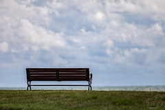 Right By My Side (CJ Schmit) Tags: park summer water wisconsin clouds canon bench dof lakemichigan depthoffield milwaukee parkbench lakefront mke 5dmarkii canon5dmarkii tamron70200mmf28dildifmacroaf cjschmit wwwcjschmitcom cjschmitphotography