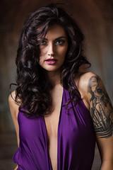 Kristin in Purple (Jeffrey Michael Parsons) Tags: people woman sexy girl beauty model purple gorgeous tatoo ef200mmf2lisusm kristinsawyer