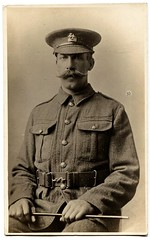 World War One Soldier (The Wright Archive) Tags: world soldier army one war uniform wwi archive royal kitchener front moustache collection western stick british wright berkshire swagger trenches regiment