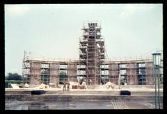 (Kaopai) Tags: west color berlin vintage dia 1966 architektur farbe farbig bau mahnmal tiergarten renovierung denkmal westberlin historisch westen gerst farbfoto farbdia bauselle