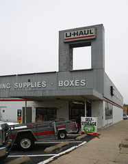 U-Haul - Broadview (Landmarks Illinois) Tags: sign commerce exterior terracotta text trade broadview proviso