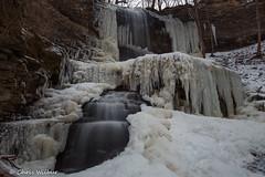 Billy White (awaketoadream) Tags: winter snow ontario canada green ice water creek centennial waterfall long exposure hamilton january niagara falls southern upper parkway billy stoney escarpment