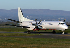 G-LGNP (David Unsworth (davidu)) Tags: uk plane airplane scotland airport glasgow aircraft aviation air jet airline saab airliner gla saab2000 glasgowinternationalairport jetliner loganair glasgowinternational abbotsinch egpf davidunsworth glgnp daviduair