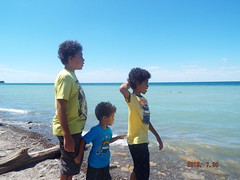 Three Brothers by the Lake (nataliyabellony) Tags: lake ny ontario boys water three brothers vivid calm vastness enormous