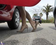 Parking (Sofeet !) Tags: sexy feet high shoes pretty arch legs hose heel chaussures intrieur chaussure heelpop sofeet