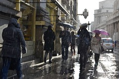2016-04-07: Gimme Shelter (psyxjaw) Tags: street people london wet water rain weather walking shower office workers bank soak commuter commuting rushhour damp cityoflondon londonist